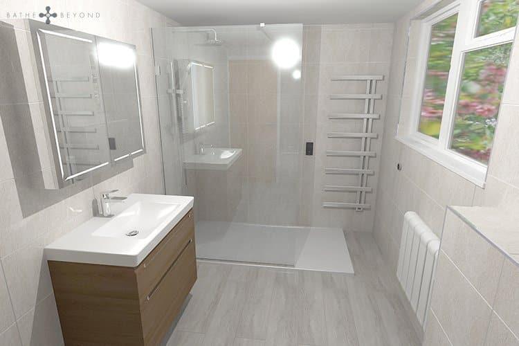 Large Family Shower Room